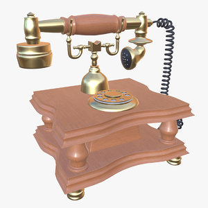 vintage telephone pbr 3D model