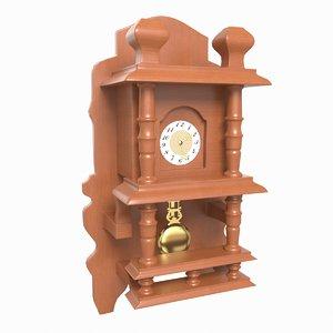 3D model wall clock pbr