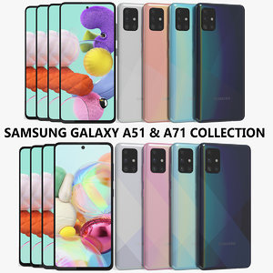 realistic samsung galaxy a51 model