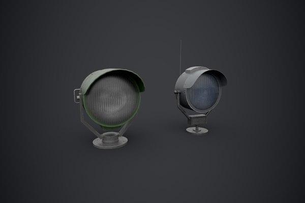 3D searchlights pbr