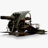 3D big bertha cannon ww1