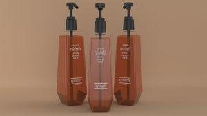 3D shampoo bottle slim