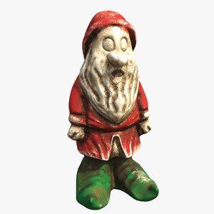 garden gnome christmas 3D