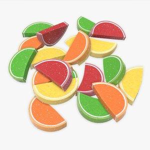 jelly fruit color 3D model
