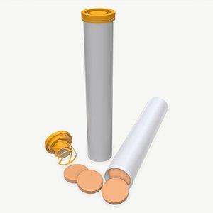 tube vitamin 3D model
