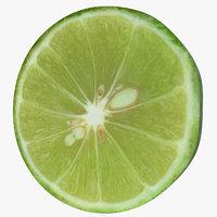 slice green lemon 3D model