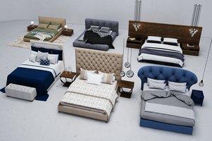 3D bed furniture cloth