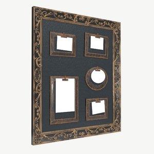 3D frame wall photo