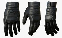 3D leather gloves