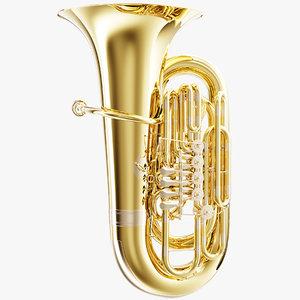 3D tuba music instruments model