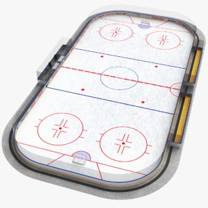 3D real hockey rink model