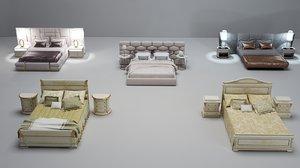 3D bed cloth furniture model
