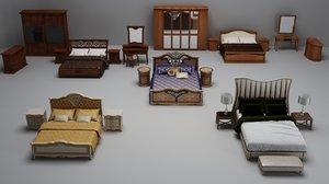 bed cloth furniture 3D model