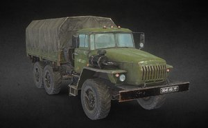 3D heavy army truck summer