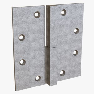 steel lift-off hinge 1 3D model