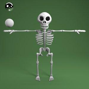 3D cartoon skeleton model