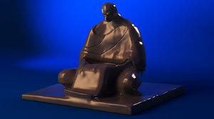 3D budhist figure budha model