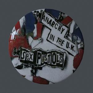 punk pin 3D model