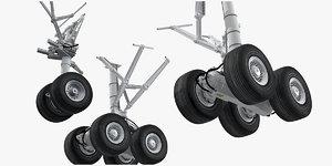 3D model boeing 787 landing gears
