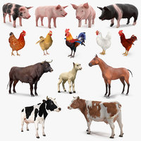3D model farm animals big 2