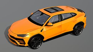 3D luxury suv ready low-poly model