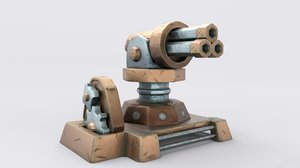 3D cartoon turret
