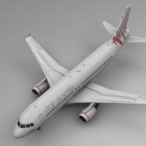 3D model virgin australia airbus a320