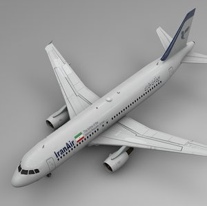 3D iran air airbus a320