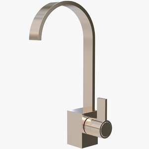 3D brass bidet mixer tap model