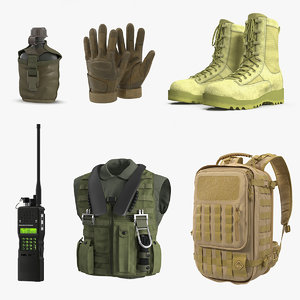 military stuff 3D model