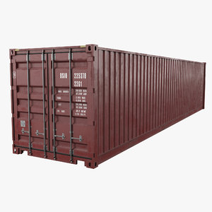 40feet cargo container 3D