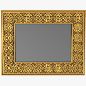 3D carved picture frame