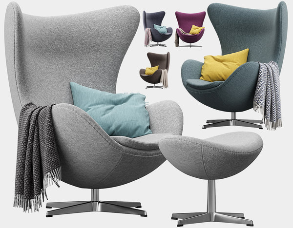 chair egg chaise lounge 3D model