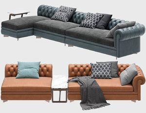 sofa chester line renzo 3D model