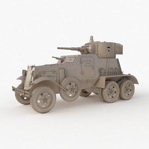 ba 6 armored car 3D