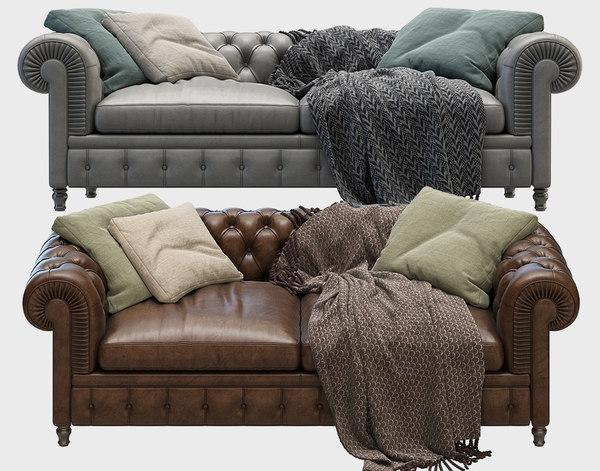 3D model sofa chester