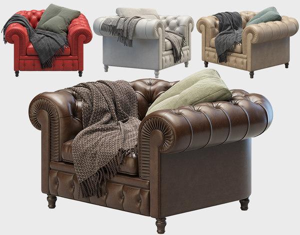 3D armchair chester