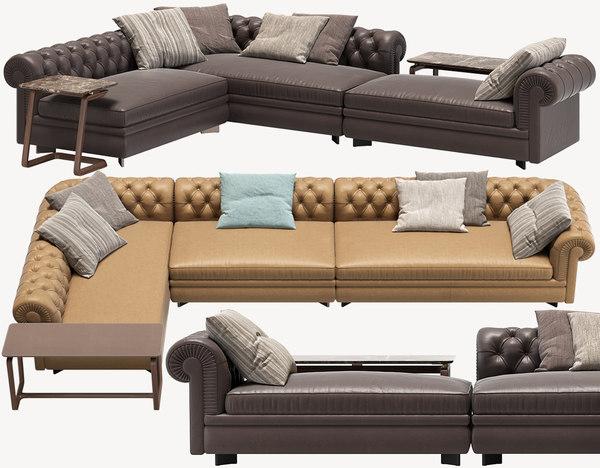 corner sofa chester line 3D model
