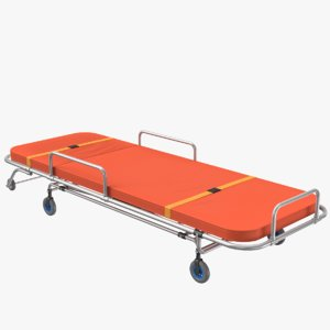 3D ambulance bed 02