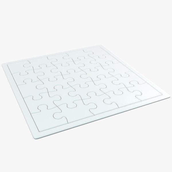 3D blank jigsaw puzzle