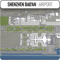 shenzhen bao international airport 3D