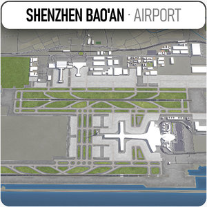 shenzhen bao international airport 3D