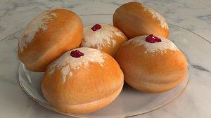 3D doughnuts sufganiyot