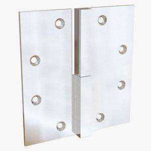 3D chrome lift-off hinge 1 model