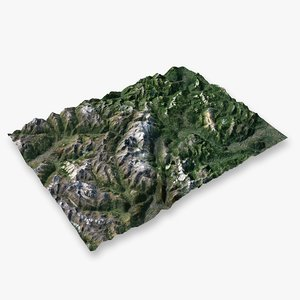 mountain alps - 4 3D model