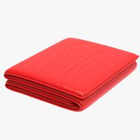 folded rug 3D model