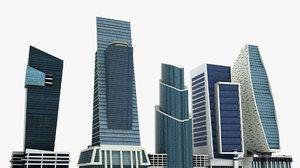 dubai skyscrapers 3D model