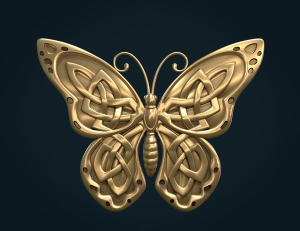 3D butterfly celtic knots