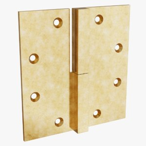 brass lift-off hinge 1 3D model