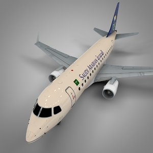saudi arabian embraer170 l419 3D model
